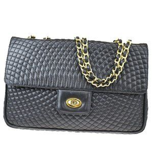 Authentic BALLY Double Flap Quilted Chain Shoulder